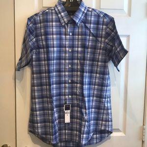 RALPH LAUREN Blue White Plaid S/S Shirt Men's M